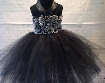 Little Black BRYANNA Tutu Halter Dress Flower Girl Party Special Event