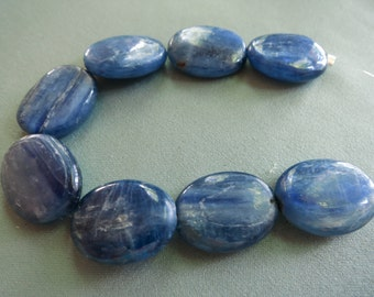 Kyanite Smooth Ovals - 19 x 15mm - 7 gemstones