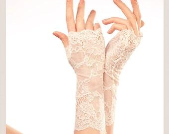 Wedding Gloves Lace Gloves Fingerless Gloves Bridal Gloves Wedding Fingerless Gloves White Lace Gloves Lace Wedding Gloves Bridal Cuff White