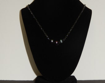 3 Freshwater Pearl Necklace with Matching Bracelet