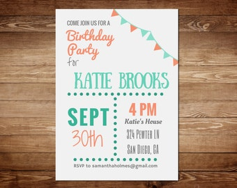 Birthday Invitation Template - Party Invitation Templates - Printable Birthday Invitation Templates