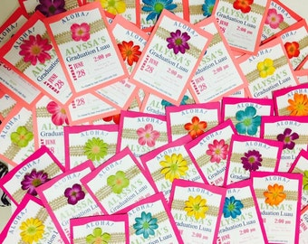 Luau Style invitations