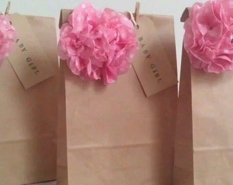 10 x Personalised Vintage Brown Paper Favour Bags/Wedding/Christening/Gift/Hen