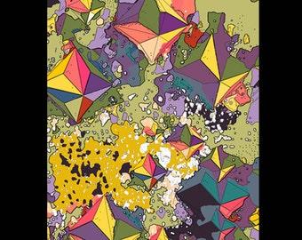 A4 Art Print -  Multi Scape 2 by Mongrel Illustration & Design