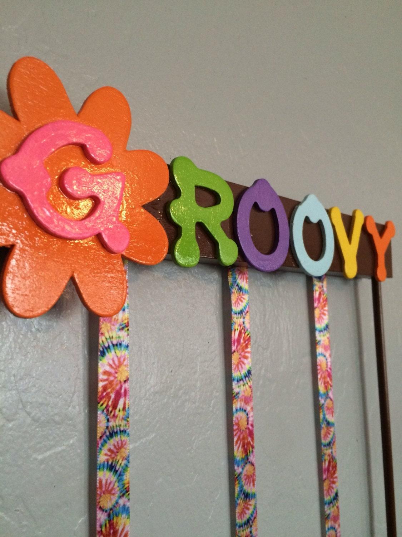 hair accessory organizer bow holder groovy girl. Black Bedroom Furniture Sets. Home Design Ideas