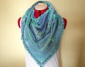 Cotton Roadtrip scarf with  pretty flower and bead details.