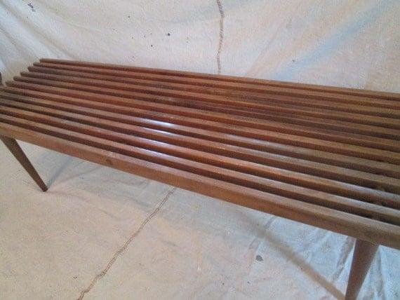 Wooden Slat Bench Danish Modern Coffee Table Slat Bench Mid
