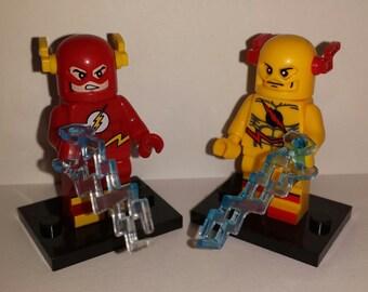 Flash Reverse Flash Set Of 2 Custom DC Minifigures JLA Justice League Building Toys (LEGO Compatible)