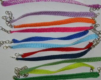crochet bracelet simple ... handmade, available in various colors, perfect for summer.