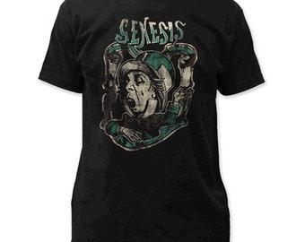 Genesis Charisma Fitted T-Shirt 100% Cotton black Sizes S-M-L-XL