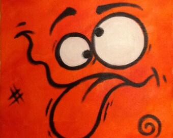 B.Silly orange canvas
