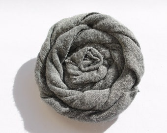 Upcycled Fabric Rose Clip
