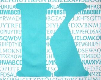 "Aqua ""K"" Fabric Panel"
