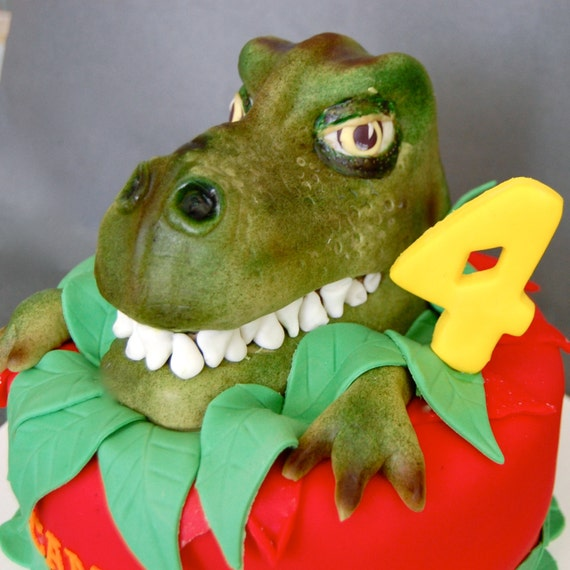 T Rex Dinosaur Cake Topper Decorating Kit 100% Edible