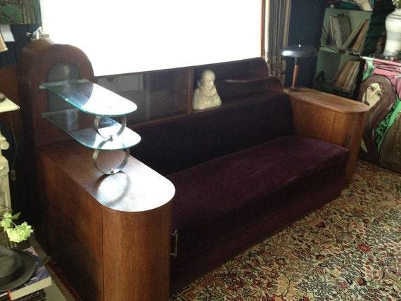 Art Deco Cosy Corner / settee / defining salon by ADFABRUMSTORE