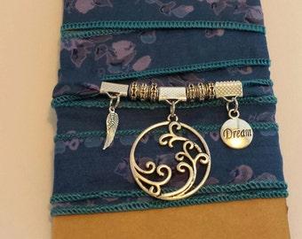 Sari Silk Wrap Bracelet (c)