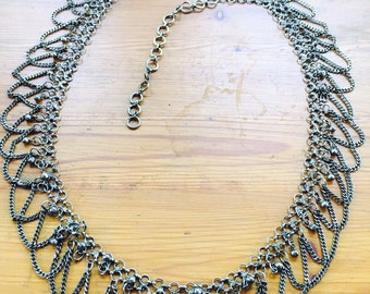 Vintage Silver chain belt, mexican silver