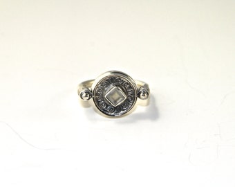 Maharaja ring - sterling silver, old indian design