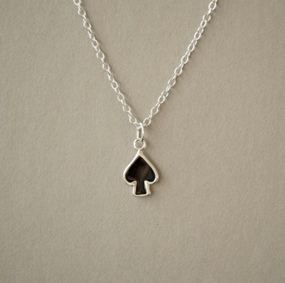 of spades jewelry spade necklace ace of spades necklace delicate 6399