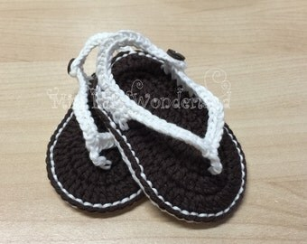 Crochet baby sandals,Handmade baby shoes,  Summer Sandals, Sandalini, Scarpine, Uncinetto