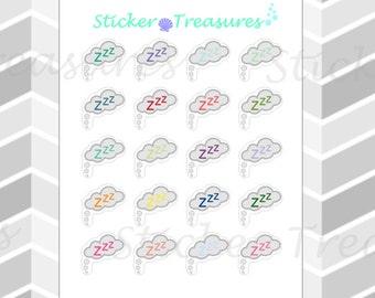 "20 ""Zzz"" Sleep Cloud [Planner Stickers]"