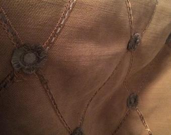 Gold button chenille