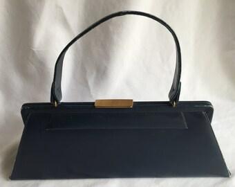 Vintage Deep Aqua Blue Bernall Handbag