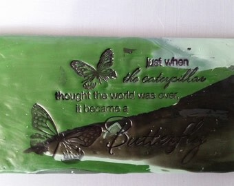 Butterfly Blossoming Clay Tile