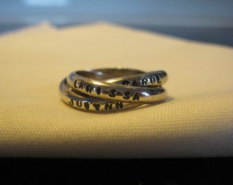 Love Knot Stamped Ring.