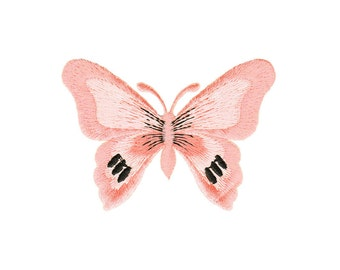 bg69 Butterfly Pink Iron on patches Embroidery Application +++ Free Shipping +++