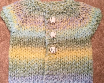 Spearmint and Puppies Baby Cardigan