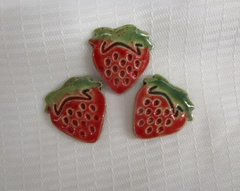 Strawberry Pottery Fridge Magnet