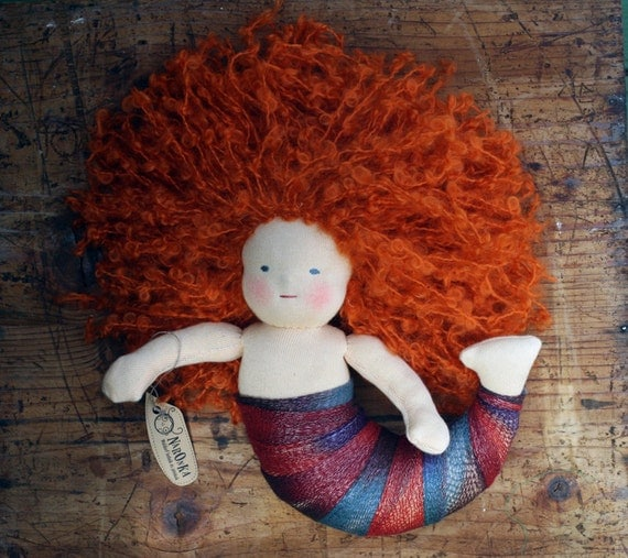 Waldorf inspired mermaid doll, Waldorf doll, ragdoll