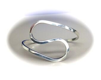 Sterling Silver S Cuff Bracelet
