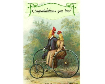 Love Birds. Wedding Card, Congratulations Card