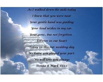 Wedding day remembrance Poem