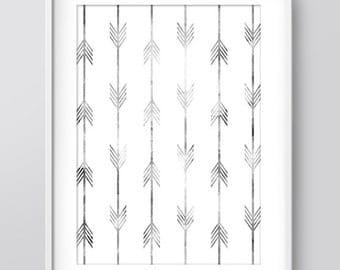 Arrow Pattern Print, Wall Prints, Printable Wall Art, Home Print, Downloadable Wall Prints, Arrow Art, Nursery Print, Digital Art