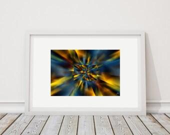 Colors Horiz 2 - art print limited edition - 24 cm x 36 cm - frame - photographic Composition - Interior Decoration
