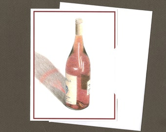 Wine Bottle Greeting Card