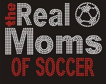 Rhinestone Personalized Soccer Mom DIY Rhinestone Transfer The Real Moms of Soccer