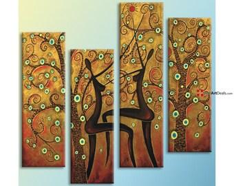 Women dancing brown wall art