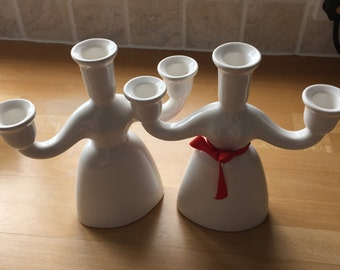 Woman-shaped Candholders