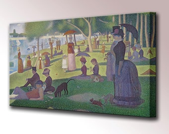 Sunday Afternoon on the Island of La Grande Jatte Canvas Wall Art Print Picture Georges Seurat Ready To Hang