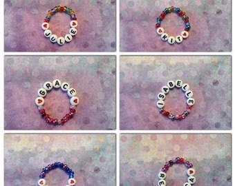 Name bracelet for American Girl Dolls: Caroline Grace Addy Julie Samantha Kaya Kit Kanani Lanie Isabelle McKenna Rebecca Mia Charissa Saige