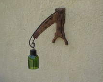 Rustic Sconce, Table Lamp, Industrial Lighting, Country Western, Upcycled Light