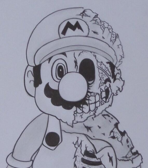 Articles Similaires A Super Mario Zombie Original Dessin