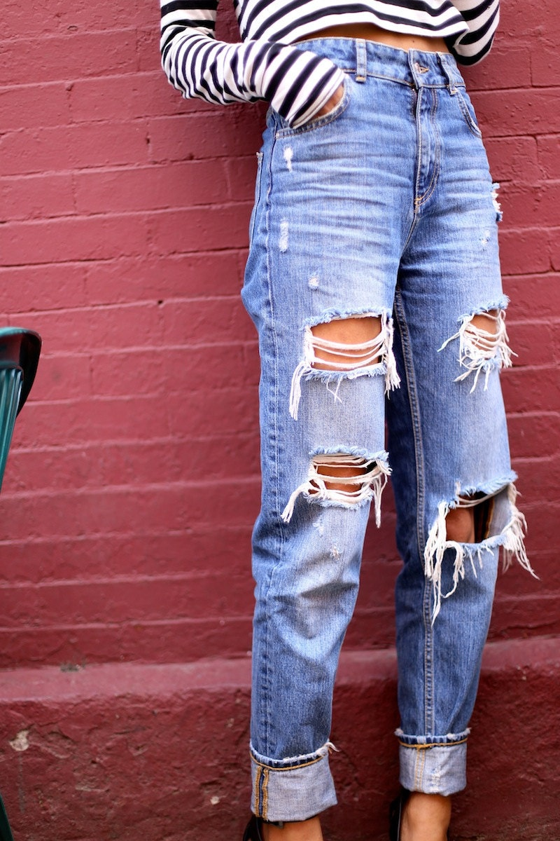 High waist jeans | Etsy