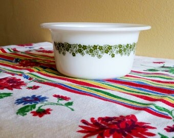 Pyrex Butter Tub Spring Blossom Green - Crazy Daisy - No Lid - 75