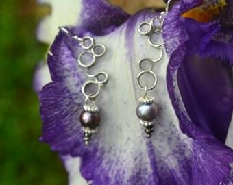 Dangling Iris Bud Earrings