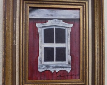 """Acrylic painting """"Just an Old Window"""""""